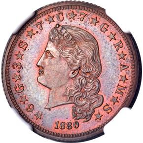 1880 J-1658 $4 PF obverse
