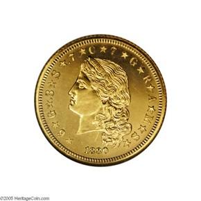 1880 J-1658 GILT $4 PF obverse
