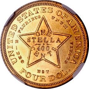 1880 J-1661 GILT $4 PF reverse