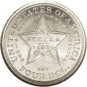 1880 J-1662 $4 PF reverse