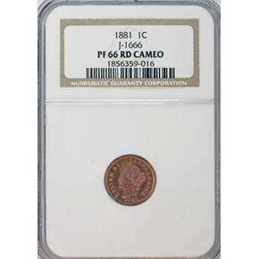 1881 J-1666 1C PF obverse