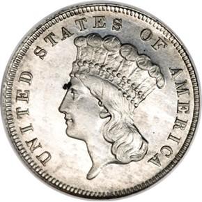 1885 J-1753 $3 PF obverse