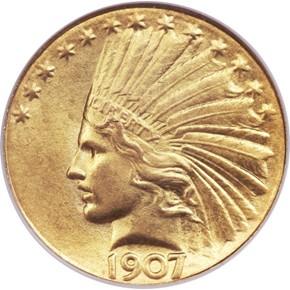 1907 J-1902 $10 PF obverse
