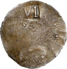 (1652) 'NE' MASSACHUSETTS 6P MS reverse