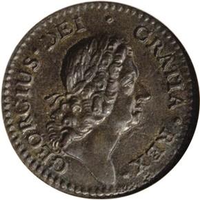 1722 'DEI GRATIA' ROSA AMERICANA 1/2P MS obverse