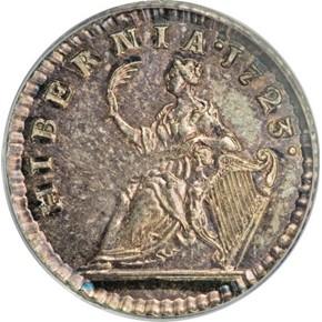 1723 SILVER HIBERNIA 1/4P MS reverse