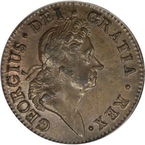 1723/2 HIBERNIA 1/2P MS obverse
