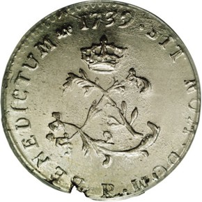 1739P FRENCH COLONIES 1SM MS obverse