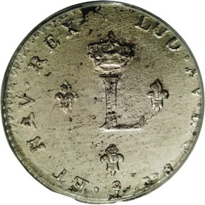 1739P FRENCH COLONIES 1SM MS reverse