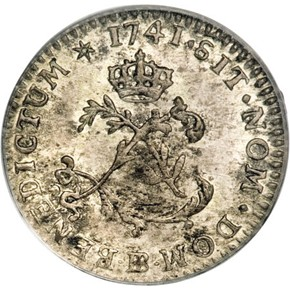 1741/39BB FRENCH COLONIES 1SM MS obverse