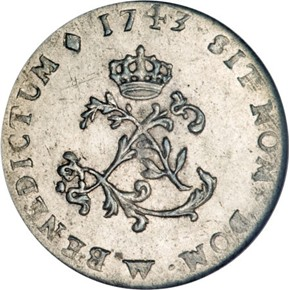 1743W FRENCH COLONIES 1SM MS obverse