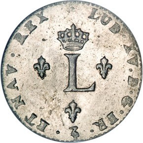 1743W FRENCH COLONIES 1SM MS reverse