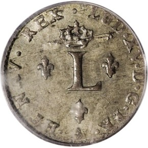 1761A FRENCH COLONIES 1SM MS reverse