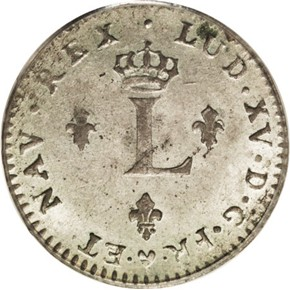 1762BB FRENCH COLONIES 1SM MS obverse