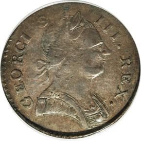 1778 'GEORGIVS' MACHIN'S MILLS 1/2P MS obverse