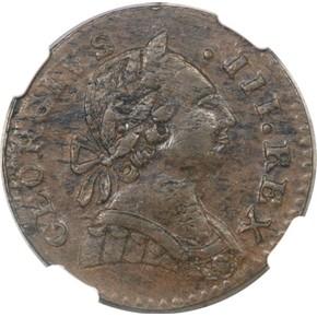 1788 'GEORGIVS' MACHIN'S MILLS 1/2P MS obverse