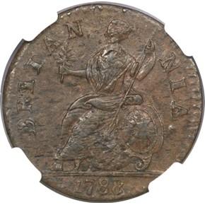 1788 'GEORGIVS' MACHIN'S MILLS 1/2P MS reverse