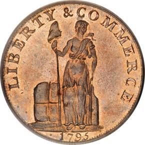 1795 LETTER EDGE TALBOT ALLUM & LEE 1C PF obverse