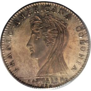 1796 SILVER ORIGINAL CASTORLAND MEDAL MS obverse