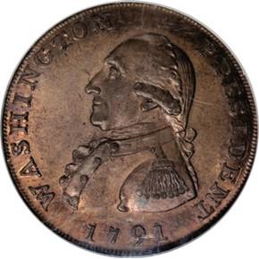 1791 LARGE EAGLE WASHINGTON PRESIDENT 1C MS obverse