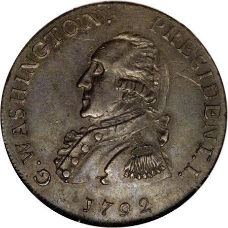 washington president 1792 coin