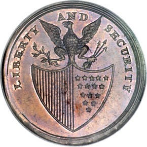 (1795) PLAIN BORDER LIBERTY & SECURITY 1P MS reverse