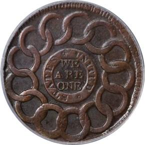 1787 + P.R. FUGIO 'STATES UNITED' 1C MS reverse