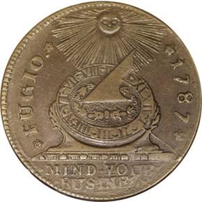 1787 8-PT STAR FUGIO 'STATES UNITED' 1C MS obverse