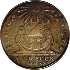 1787 'FUCIO' 'UNITED STATES' 1C MS obverse