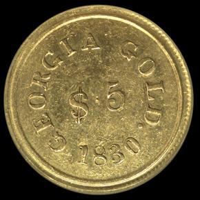 1830 TEMPLETON REID $5 MS obverse