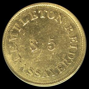 1830 TEMPLETON REID $5 MS reverse
