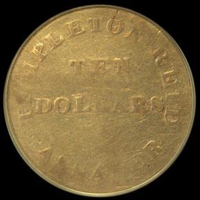 1830 TEMPLETON REID $10 MS reverse