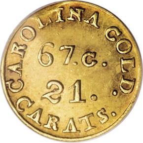 (1837-42) C.BECHTLER 67G, 21C $2.5 MS obverse