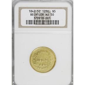 (1842-50) A.BECHTLER 128G, 22C $5 MS obverse