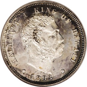 1883 HAWAII 10C PF obverse