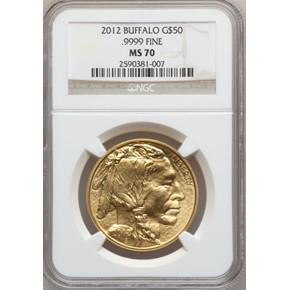 2012 BUFFALO .9999 FINE G$50 MS obverse