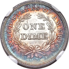 1838 SMALL STARS DDR 10C MS reverse