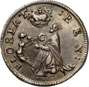 c.1670SILVER ST.PATRICK NEW JERSEY 1/4P MS obverse