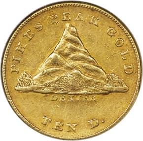 1860 CLARK, GRUBER & CO. $10 MS obverse