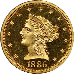 1886 $2.5 PF obverse