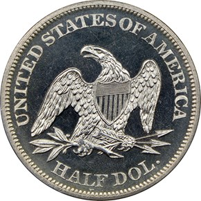 1864 50C PF reverse