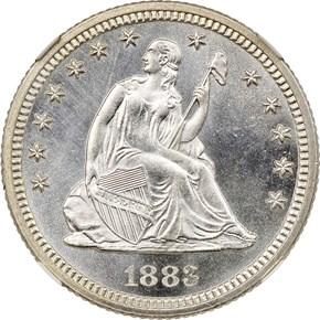 1883 25C MS obverse