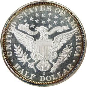 1895 O 50C SP reverse