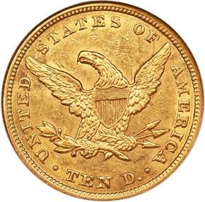 1855 $10 MS reverse