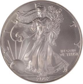 2002 EAGLE S$1 MS obverse