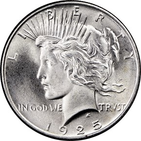 1925 $1 MS obverse
