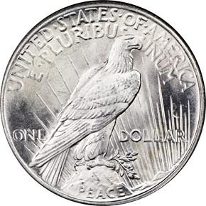 1925 $1 MS reverse