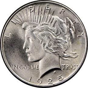 1925 S$1 MS obverse
