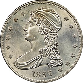 1837 50C MS obverse