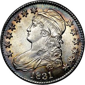 1831 50C MS obverse